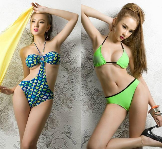 """Năm 2012, """"bà mẹ nhí"""" Angela Phương Trinh trở thành một """"hot girl thị phi"""" với hàng loạt scandal bủa vây. Người đẹp gây sốc khi tung bộ ảnh bikini khoe thân quá đà, không hợp với lứa tuổi 17."""