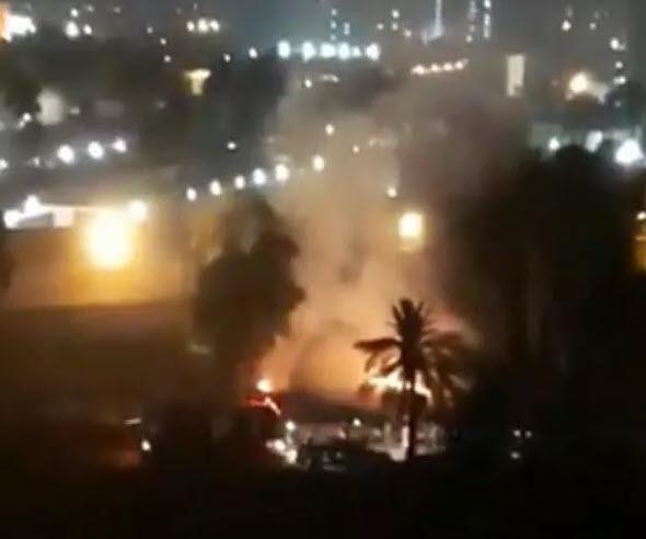 8 rocket lao xuống Đại sứ quán Mỹ ở Iraq - 1