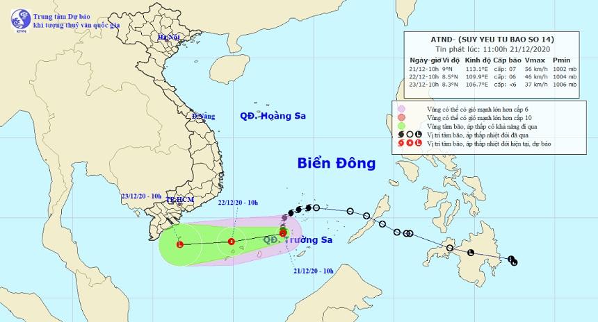 Bão số 14 bất ngờ thay đổi cường độ, Nam Bộ sắp có mưa - 1
