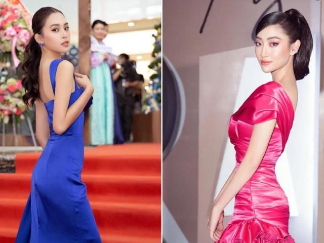 Thời trang - Tiểu Vy, Lương Thuỳ Linh diện váy cắt xẻ táo bạo khoe đường cong đẹp mắt