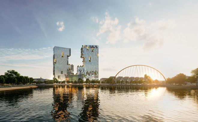 Ecopark Hải Dương triển khai tháp đôi cao nhất Hải Dương - 1