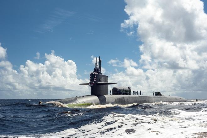 Tàu ngầm hạt nhân Mỹ đem 154 tên lửa hành trình Tomahawk đến sát Iran - 1