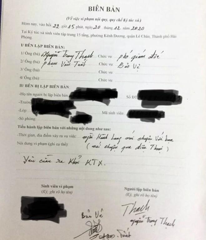 Nữ sinh ở Hải Phòng bị đuổi khỏi ký túc vì nghe điện thoại ở hành lang - 1