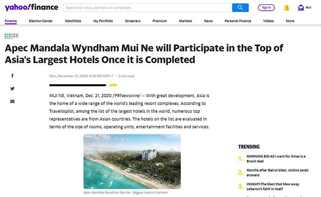 Báo chí quốc tế đồng loạt đưa tin khách sạn Việt Nam lọt top 10 châu Á - 1