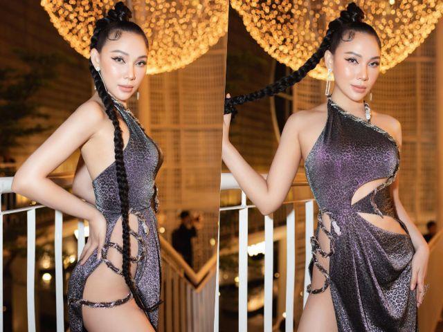 Thời trang - Tuyển tập váy xẻ hiểm hóc của siêu mẫu Quỳnh Thư