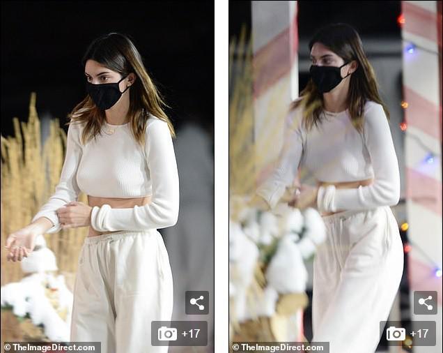 Kendall Jenner mặc 'quên nội y', mặc crop-top khoe eo thon bất chấp lạnh âm độ C - 4