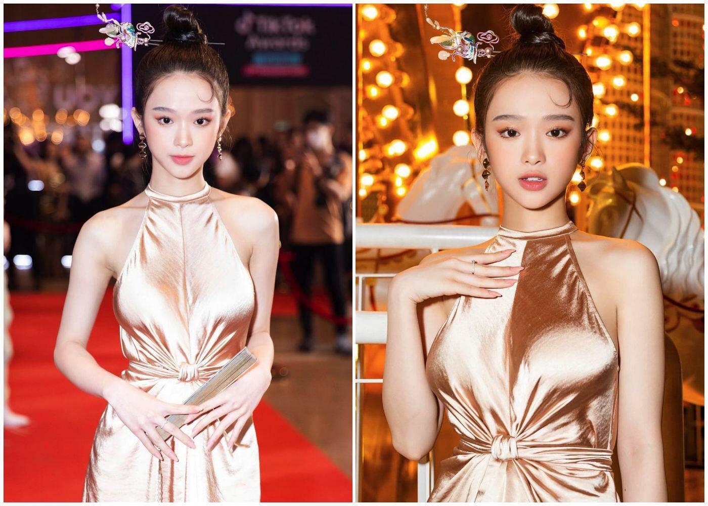 Linh Ka thu hút sự chú ý vào vòng 1 vì mặc váy lụa không nội y - 2