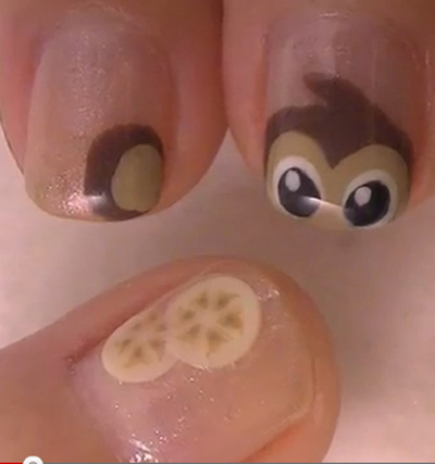 Chơi trội với kiểu nail Monkey - 1