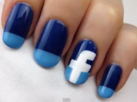 """Đem cả """"Facebook"""" lên móng xinh - 1"""