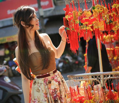 Diễm Trang khoe sắc xuân căng tràn - 1