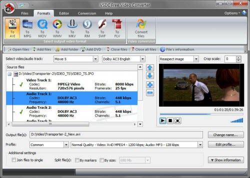 Đổi định dạng, cắt, nối video miễn phí - 1